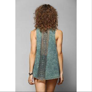 Urban Outfitters Acid Wash Crochet Tank - Sz Sm